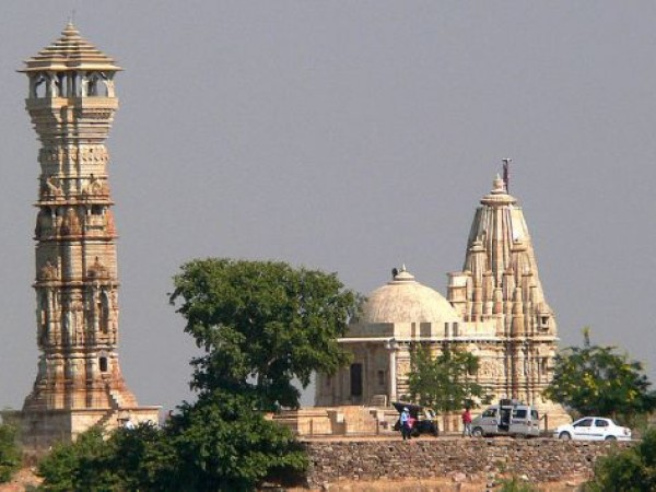 Chittorgarh photos, Kirti Stambh - Distance View