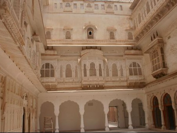 Bikaner photos, Junagarh Fort - Marble Jaalis