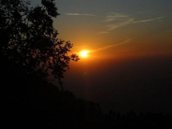 Mount Abu photos, Sunset Point - Orangy Sunset