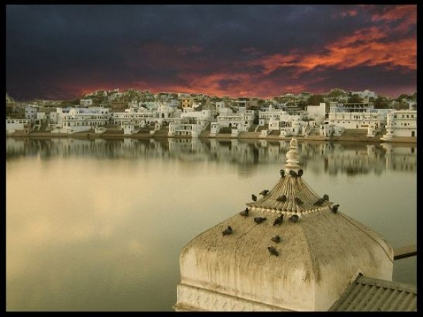 Pushkar photos, Pushkar Lake - Twilight
