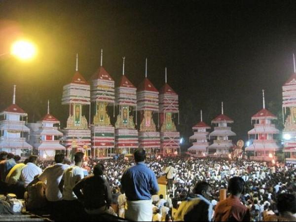 Alleppey photos, Chettikulangara Bhagavathy Temple - Kettukazhcha