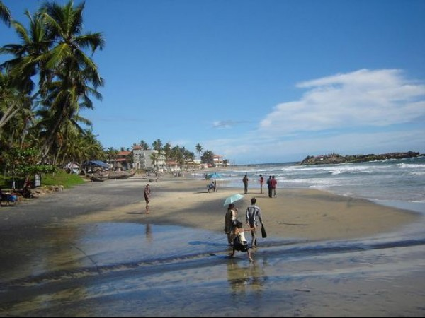Kovalam photos, Hawah Beach - Tourists