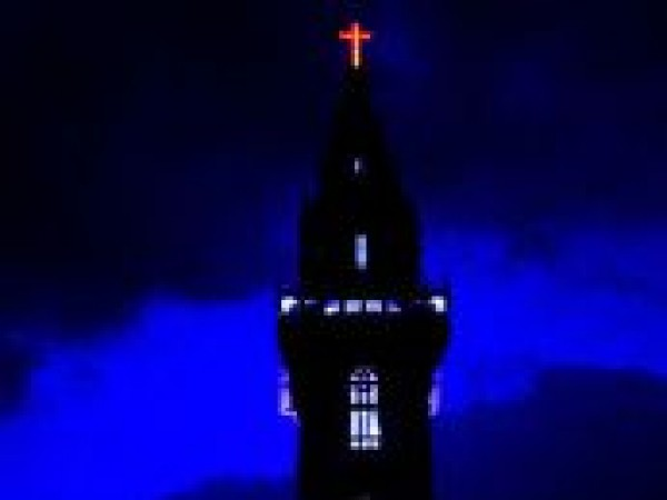 Thrissur photos, Bible Tower - Night View