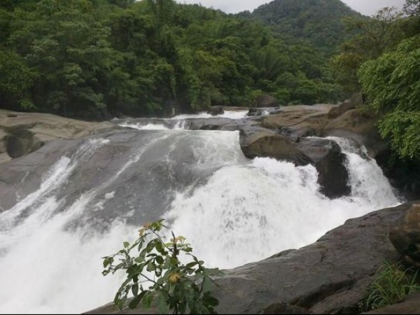 Nilambur photos, Adyanpara Falls- Water Gushing Down The Falls