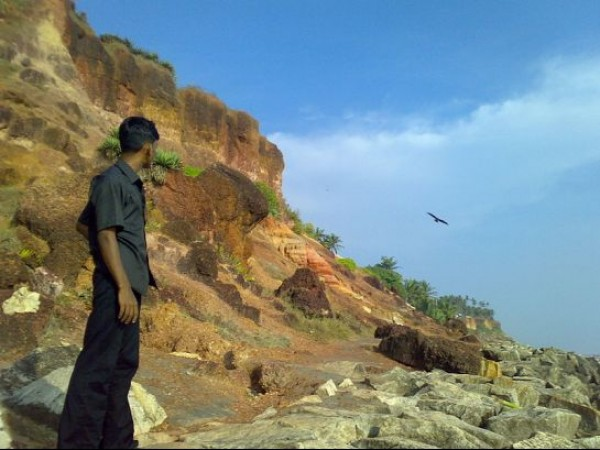 Varkala photos, Cliffs