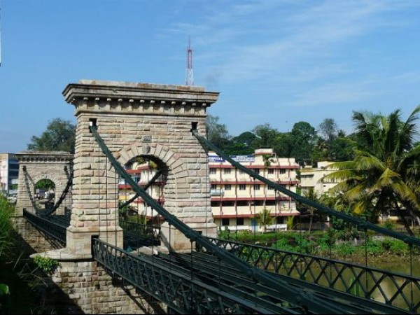 Punalur photos, Punalur Suspension Bridge - Constructed across the river