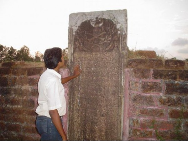 Kannur photos, Fort St. Angelo - Slab With Portuguese inscriptions