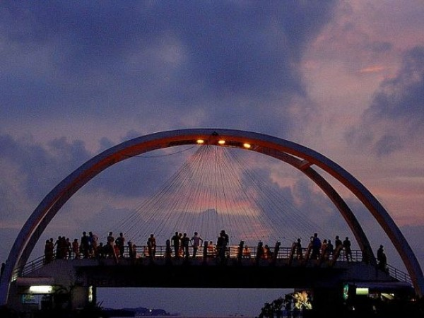 Kochi photos, Marine Drive - Rainbow bridge