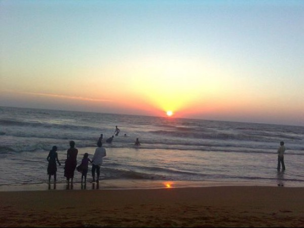 Kannur photos, Payyambalam Beach - During Sun Set