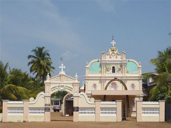 Adoor photos, St. Mary's Orthodox Syrian Cathedral - A Front View