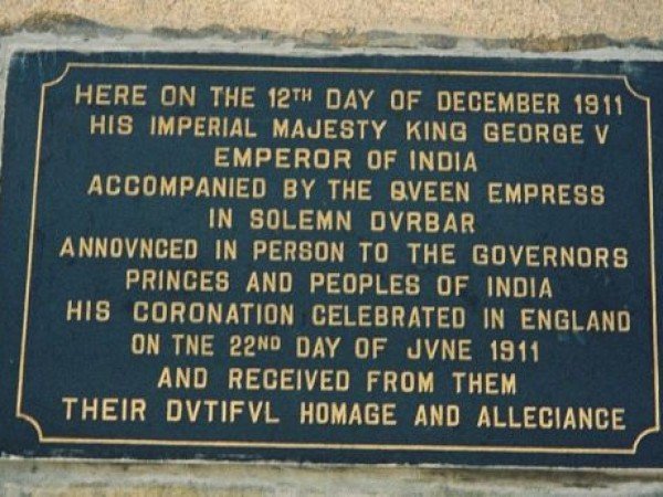 Delhi photos, Coronation Park - Stone Plaque