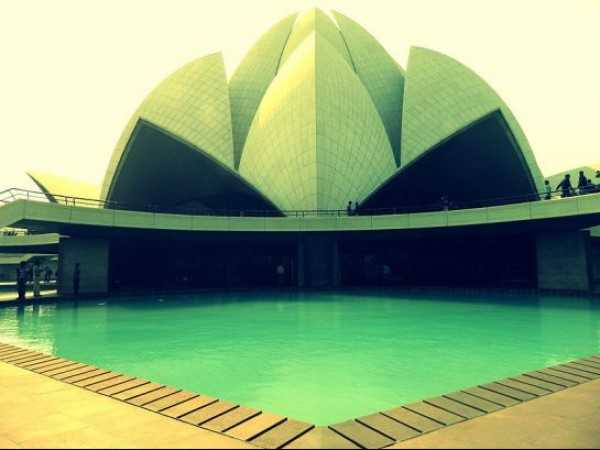 Delhi photos, Bahai House of Worship - Close View