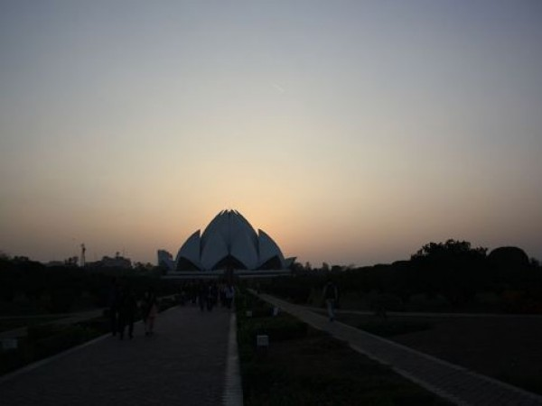 Delhi photos, Bahai House of Worship - Sunset View