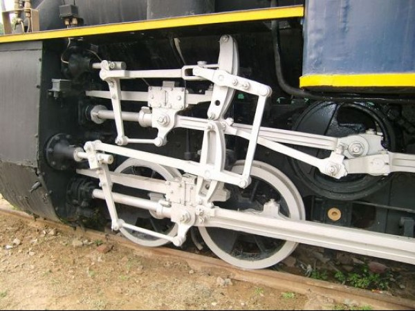 Delhi photos, National Railway Museum - Double Cylindered Rail Mechanism
