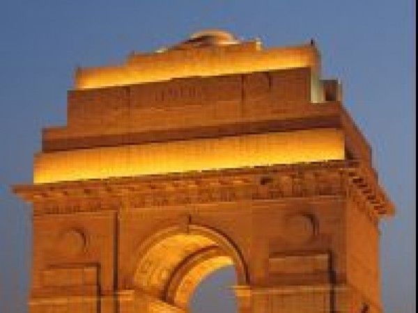 Delhi photos, India Gate - When Illuminated at Night
