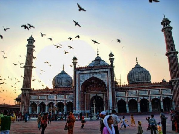 Delhi photos, Jama Masjid - Sunset view