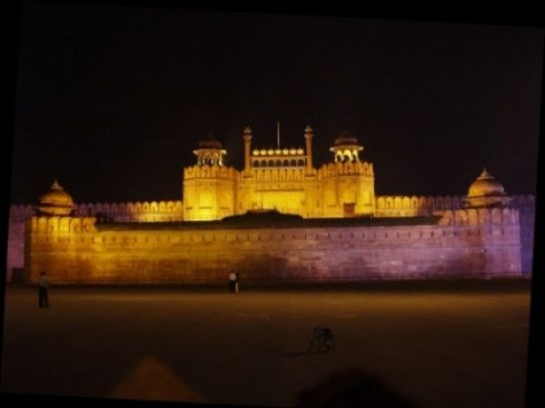 Delhi photos, Red Fort - Night View