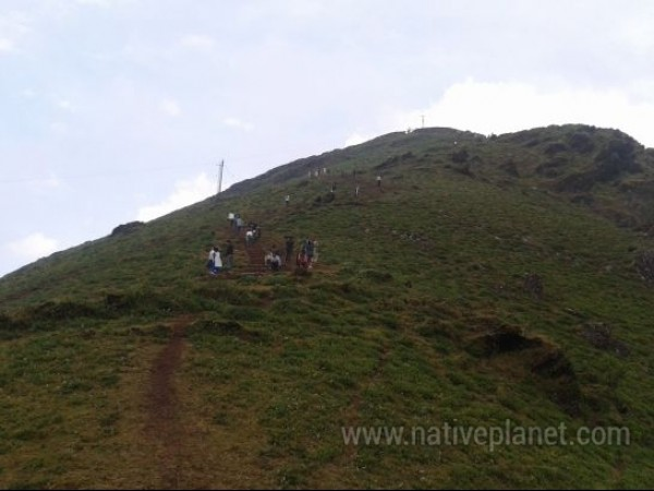 Chikmagalur photos, Mullayanagiri Range - Tourists Trek Up The Range