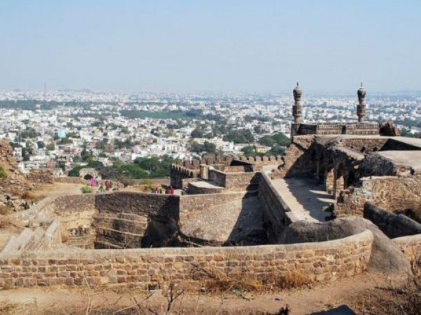 Hyderabad photos, Golconda Fort - Beautiful birds eye panorama