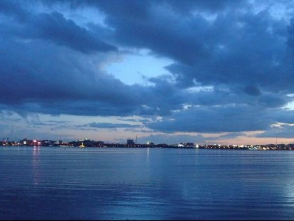 Hyderabad photos, Hussain sagar Lake - Cloudy evening