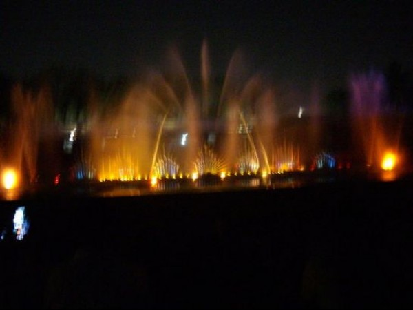 Hyderabad photos, Lumbini Park - Colourful laser