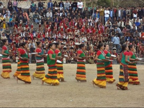 Kohima photos, Hornbill Festival - Women in Colourful Costumes