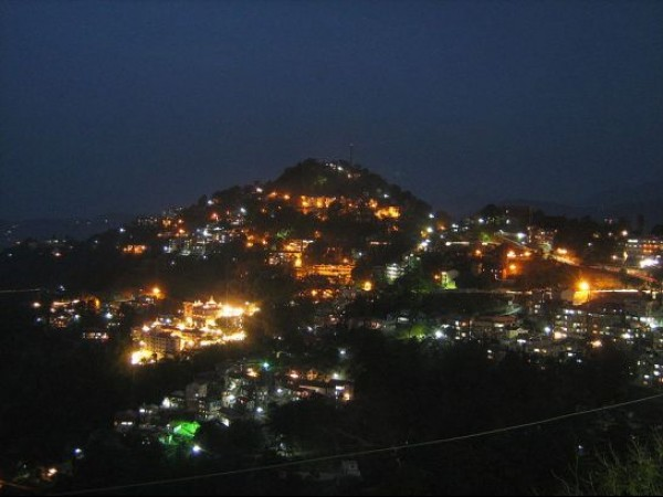 Shimla photos, Night view of Shimla
