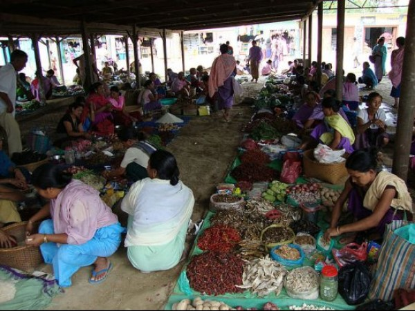 Thoubal photos, Kakching market