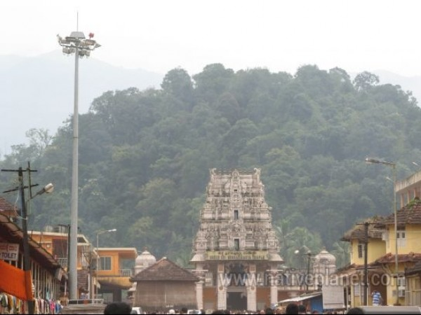 Kukke Subramanya photos, Subrahmanya Temple - A distance view of the temple