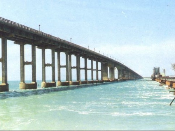 Rameshwaram photos, Pamban Bridge - Longest bridge