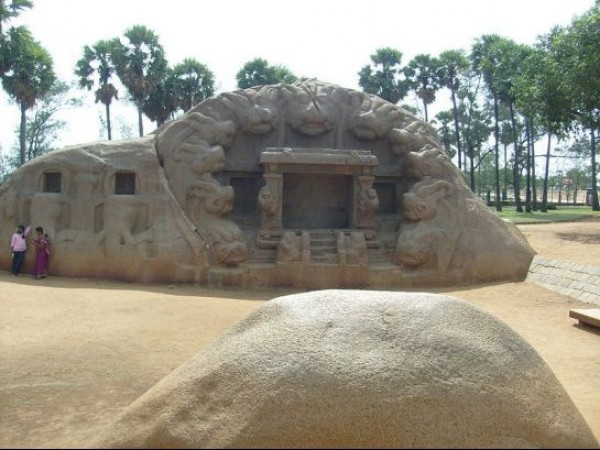Mahabalipuram photos, Tiger Cave - A Structure
