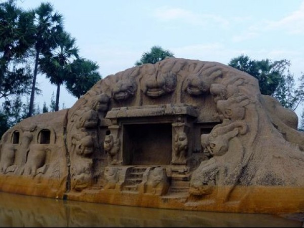 Mahabalipuram photos, Tiger Cave - A Closer View