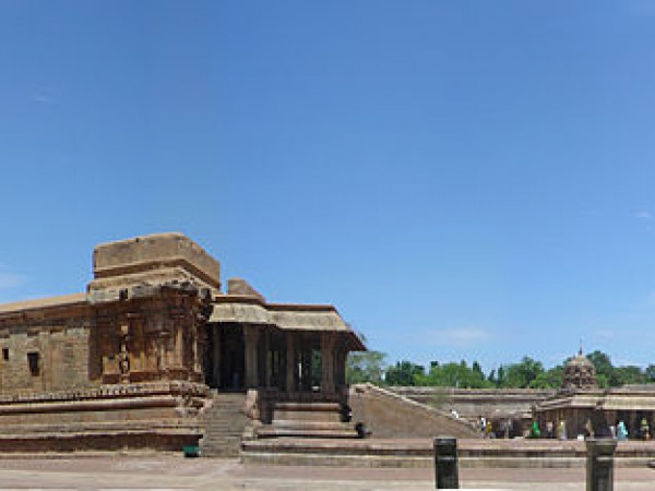 Thanjavur photos, Brihadeshwara temple - Panorama