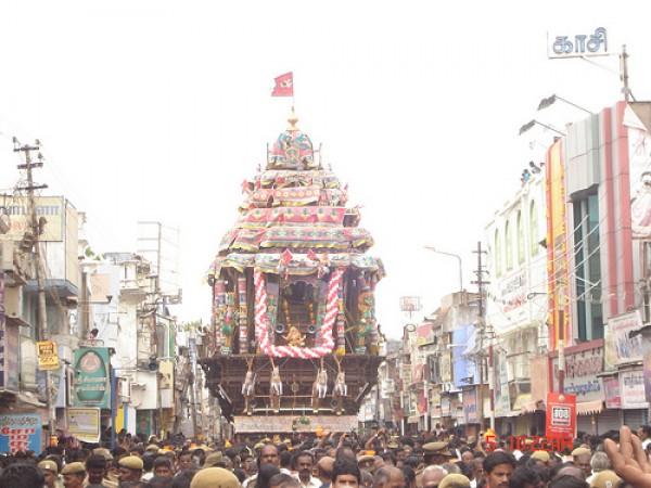 Tirunelveli photos, Nellaiappar Temple - Scene from a festival