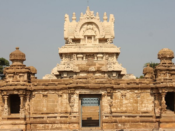 Kanchipuram photos, Kailasanathar Temple - Top view of the temple
