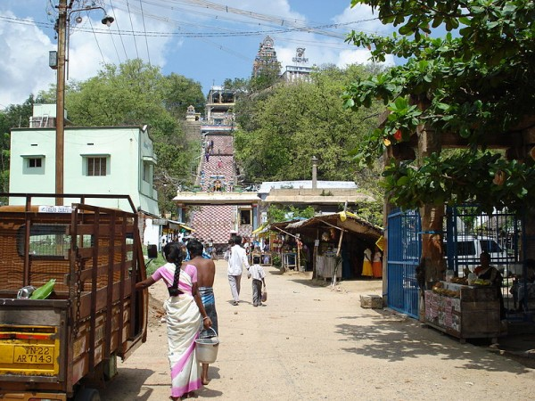 Trichy photos, Viralimalai Murugan Temple - A distant view