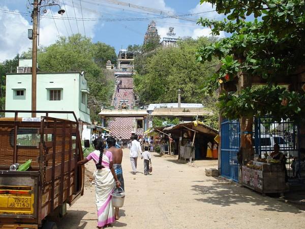 Trichy photos, Viralimalai Murugan Temple - A distant view