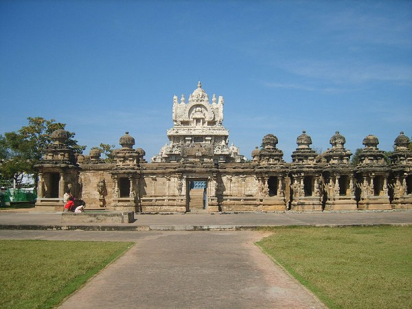 Kanchipuram photos, Kailasanathar Temple - A distant view