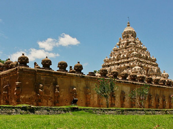 Kanchipuram photos, Kailasanathar Temple - A Panoramic view