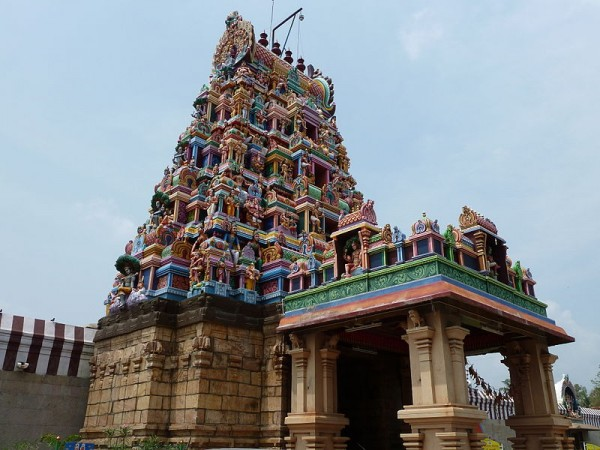 Coimbatore photos, Patteeswarar Temple - Perur - Low angle view