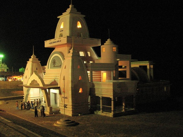Kanyakumari photos, Gandhi Museum - Mantapam At Night