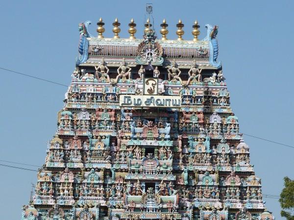 Karur photos, Kalyana Pasupatheeswarar Temple - Main Gopura