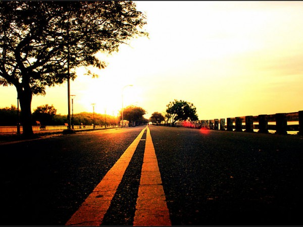 Pondicherry photos, Beach road