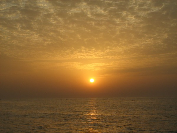 Pondicherry photos, Pondicherry Beach - Sunrise