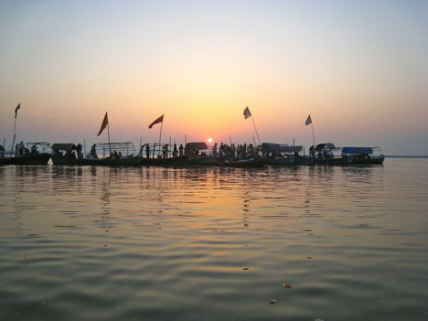 Allahabad photos, Sangam - A beautiful sunset