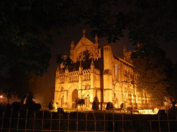 Allahabad photos, All Saints Cathedral - A night view