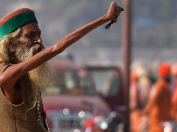 Allahabad photos, Holy man