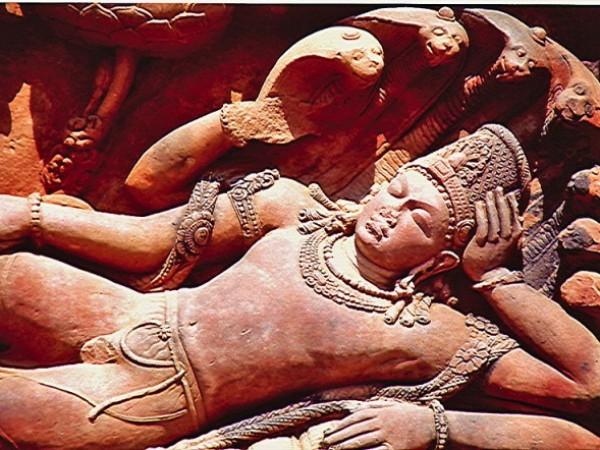 Deogarh photos, Dashavatara Temple - Vishnu lies in Anathashayana