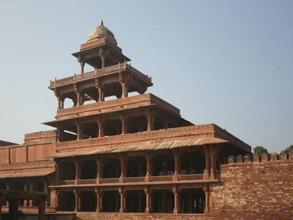 Fatehpur Sikri photos, Panch Mahal - Exterior View