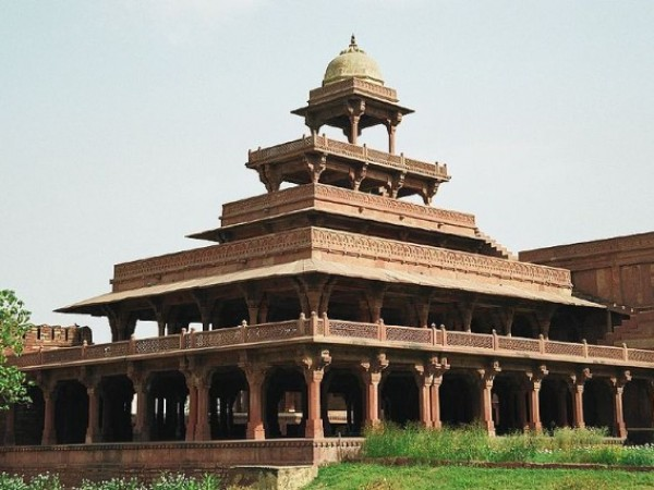 Agra photos, Panch Mahal - The five-storeyed Panch Mahal
